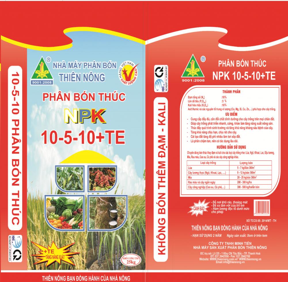 Phân bón Thiên Nông - NPK 10.5.10