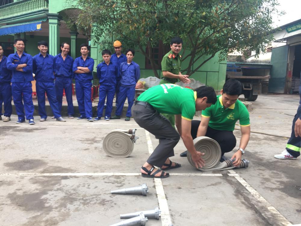 Tập huấn phòng cháy chữa cháy tại Nhà máy Thiên Nông 1