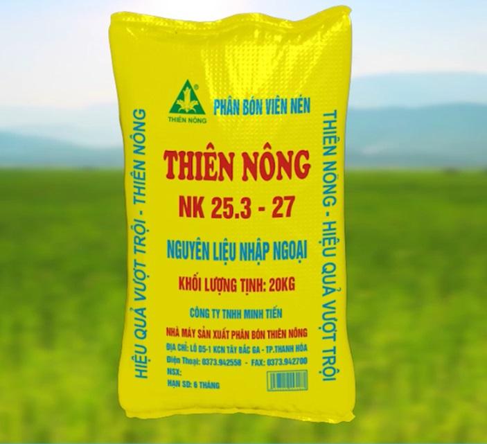 Phân dúi – Phân bón viên nén Thiên Nông