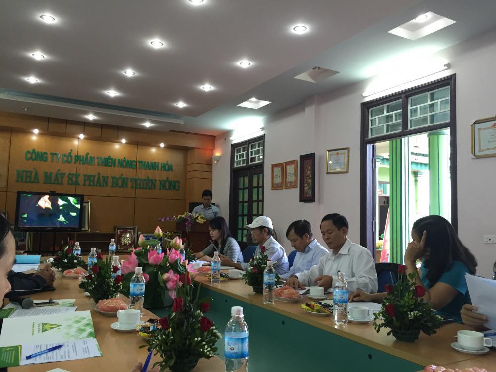 Cụm thi đua số 16 đến thăm và làm việc tại Công ty Cổ phần Thiên Nông Thanh Hóa