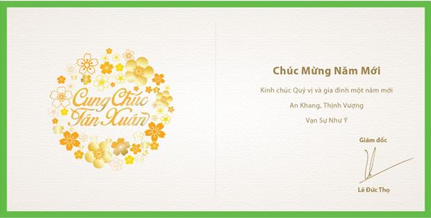 Lời chúc mừng năm mới từ công ty cổ phần Thiên Nông Thanh Hóa