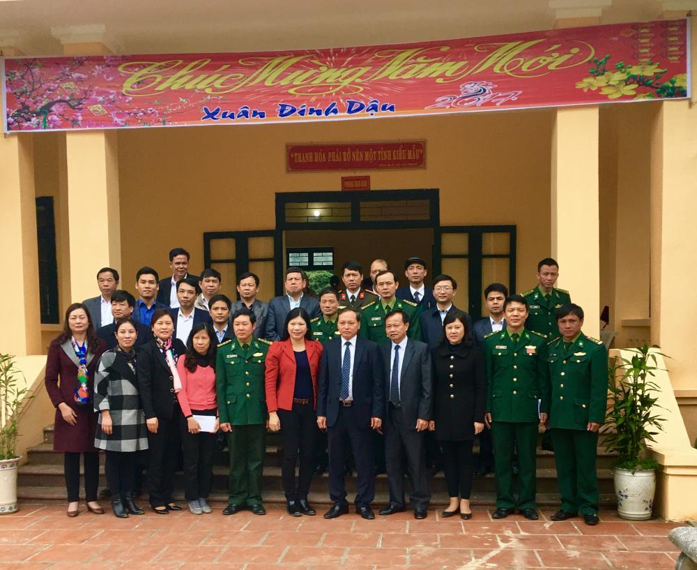 Công ty CP Thiên Nông Thanh Hóa thăm, chúc tết một số đơn vị biên phòng, kiểm lâm huyện Thường Xuân và Thọ Xuân