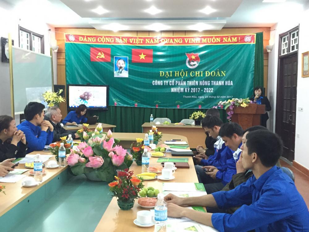 Đại hội chi đoàn Công ty cổ phần Thiên Nông Thanh Hóa nhiệm kỳ 2017-2022