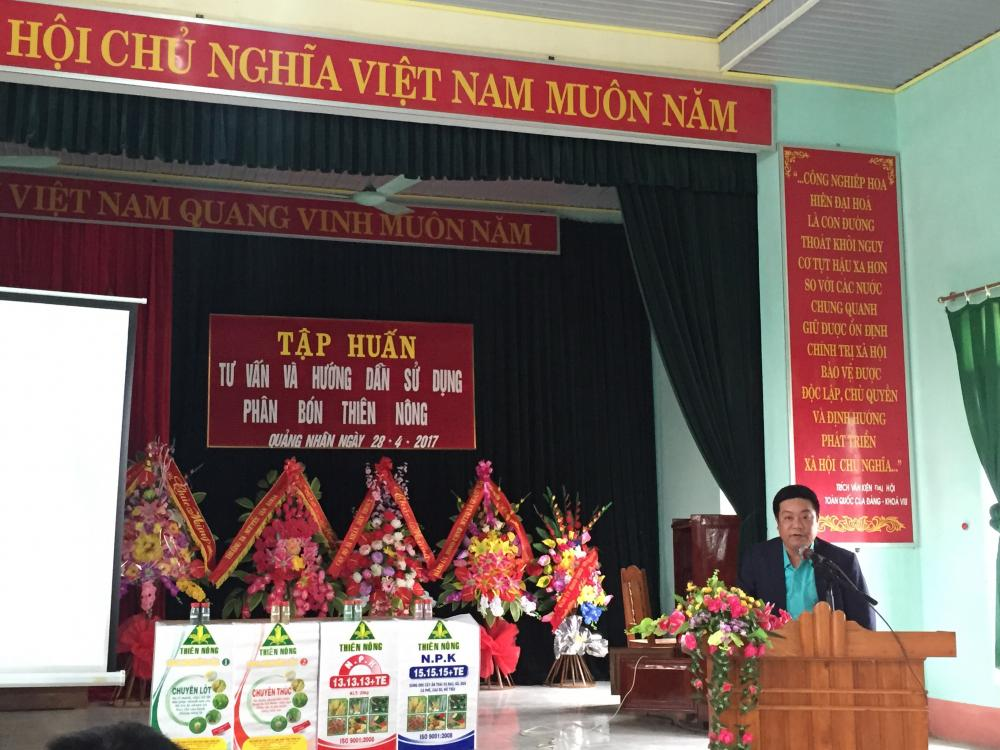 Thiên Nông tổ chức Tập huấn khoa học kỹ thuật sử dụng phân bón Thiên Nông tại huyện Quảng Xương
