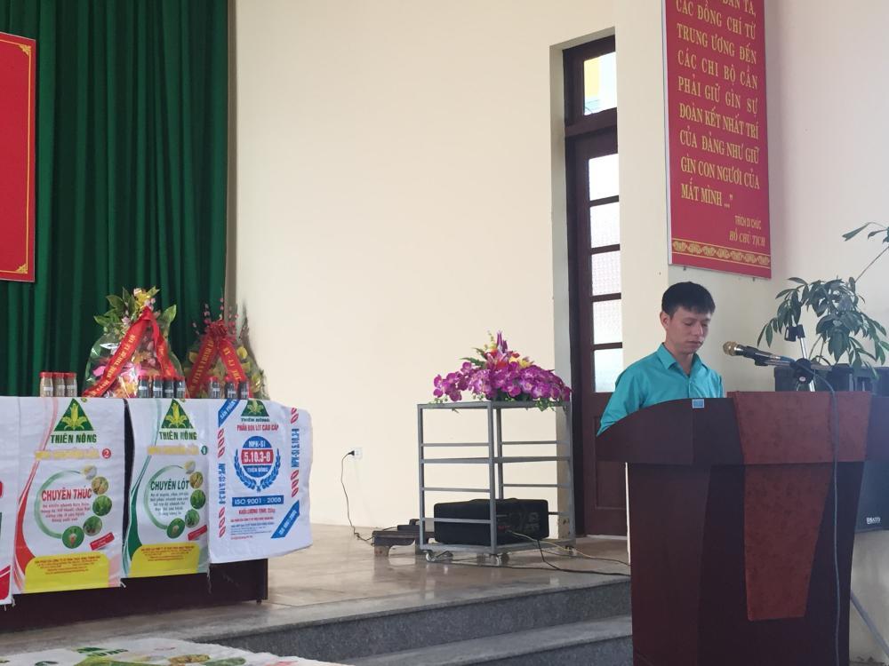 Thiên Nông tổ chức Hội thảo sử dụng dinh dưỡng Tiết kiệm-Hiệu quả-bền vững tại huyện Hậu Lộc