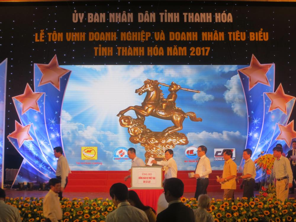 Tôn vinh doanh nghiệp và doanh nhân tiêu biểu tỉnh Thanh Hóa năm 2017