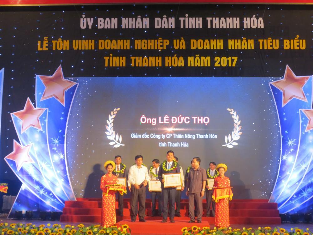 Thiên Nông vinh dự nhận bằng khen của Chủ tịch UBND tỉnh Thanh Hóa trao tặng