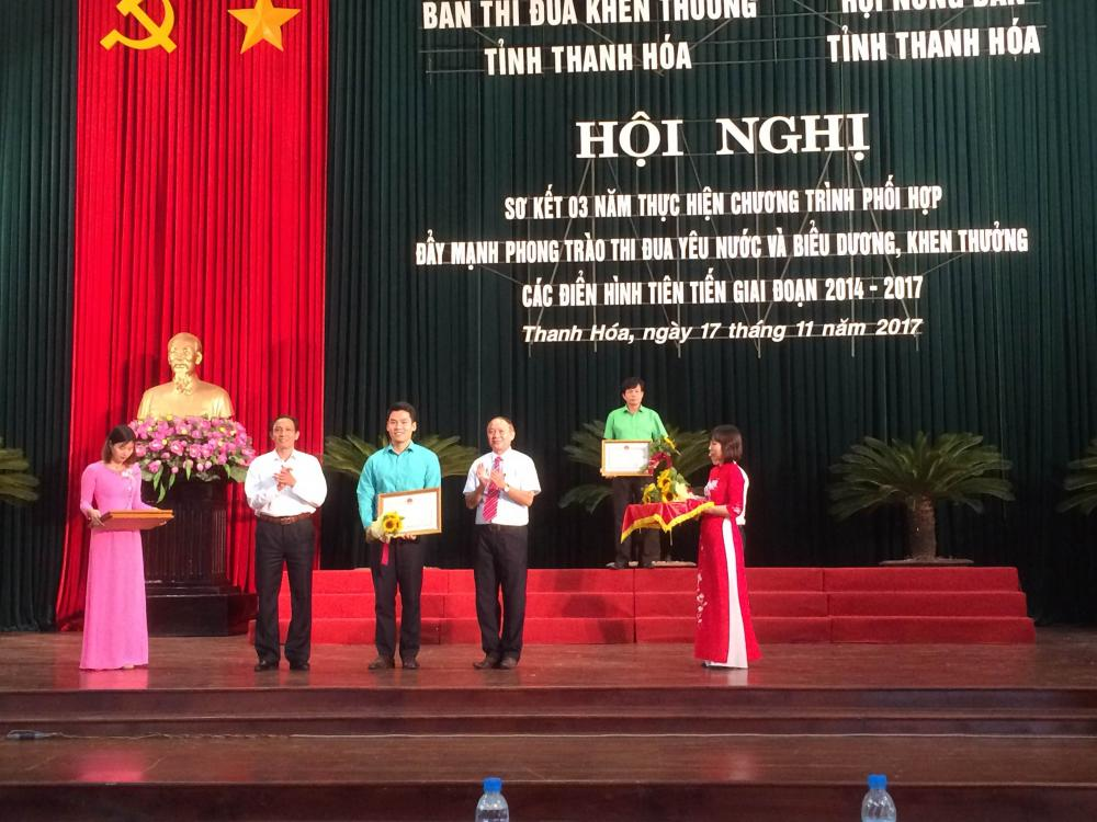 Thiên Nông nhận bằng khen của Chủ tịch UBND tỉnh Thanh Hóa trong phong trào thi đua yêu nước
